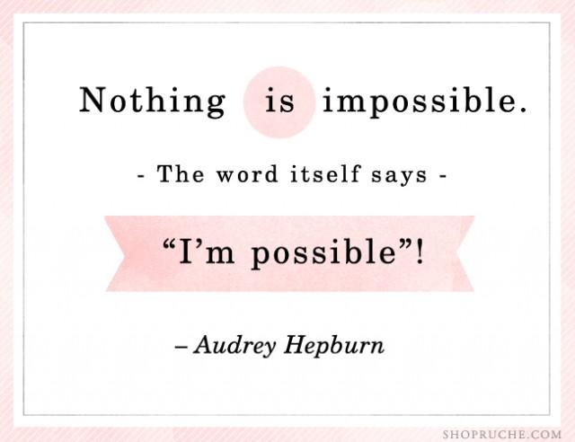 Preciously Me blog : Audrey Hepburn quote