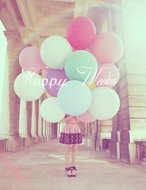 Preciously Me blog : Happy Weekend - Balloons
