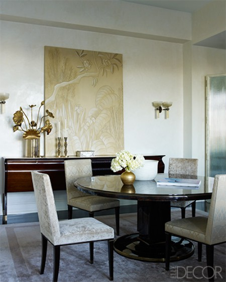 Dining Rooms From Elle Decor: An Elegant Home In New York