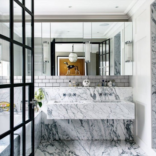 Preciously Me blog : Marble Bathroom