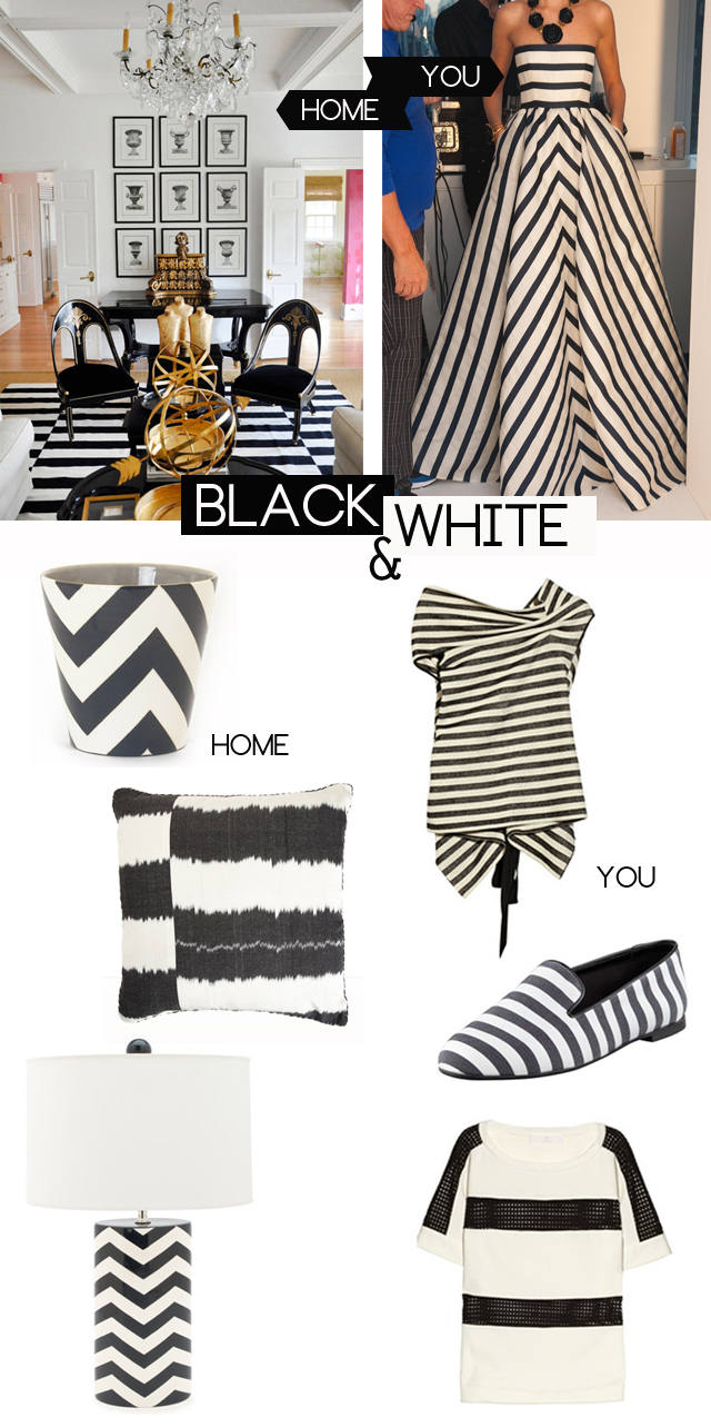 "Preciously Me blog : Guest Post ""Mimosa Lane"" Black & White Stripes"