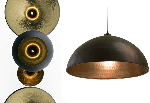 Preciously Me blog : DIY Black & Gold Pendant Lamp
