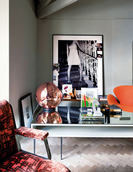 A haute couture penthouse in madrid preciously me - Appartement decoration design glamour vuong ...