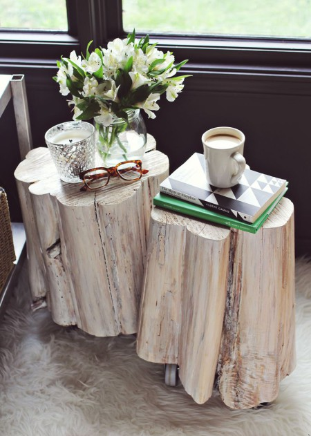 Preciously Me blog : DIY tree side tables