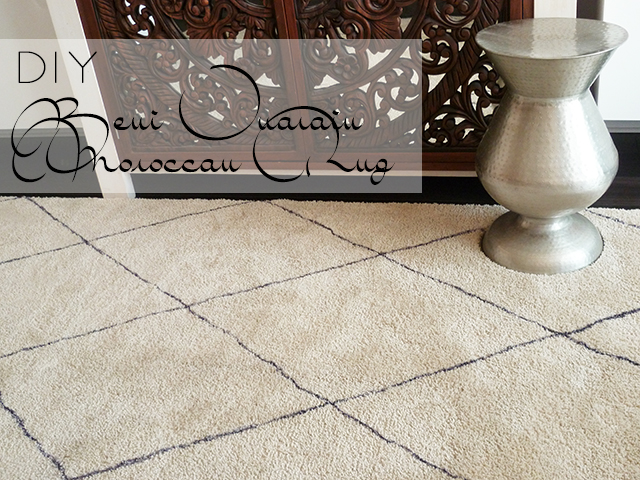 Preciously Me blog : DIY Beni Ouarain Moroccan Rug