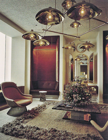 Preciously Me blog : Vintage living romm with Warren Platner Chair for Knoll