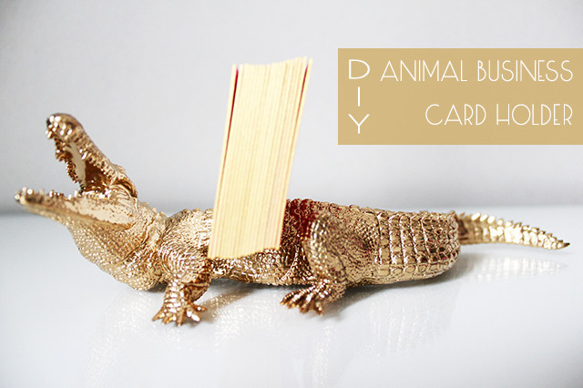 Preciously Me blog : DIY - Animal Business Card Holder
