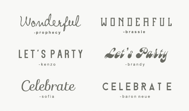 Preciously Me blog : Party Fonts