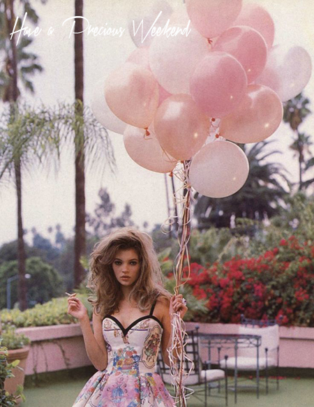 Preciously Me blog : Kate Moss - Balloons