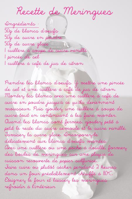 Preciously Me blog : Mes Petites Meringues Recette