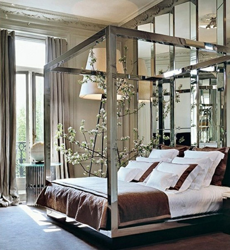 Preciously Me blog : Currently obsessed - Silver Four Poster Bed