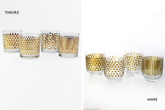 Preciously Me blog : DIY metallic glassware