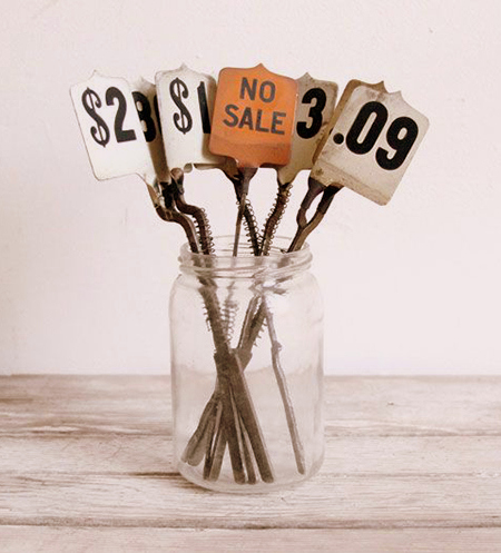 Preciously Me blog : old cash register tags