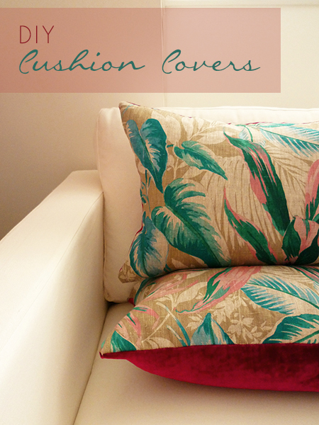 Preciously Me blog : DIY – Cushion Covers