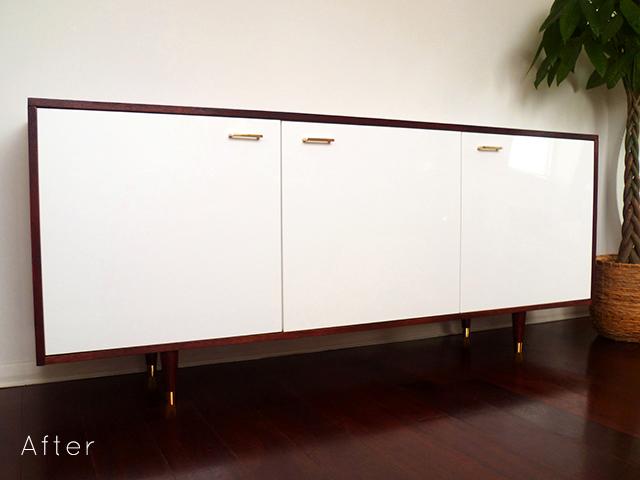 Preciously Me blog : DIY - Ikea Mid Century Style Credenza