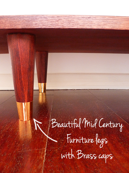 Preciously Me Blog : DIY - Mid Century Legs with Brass Caps