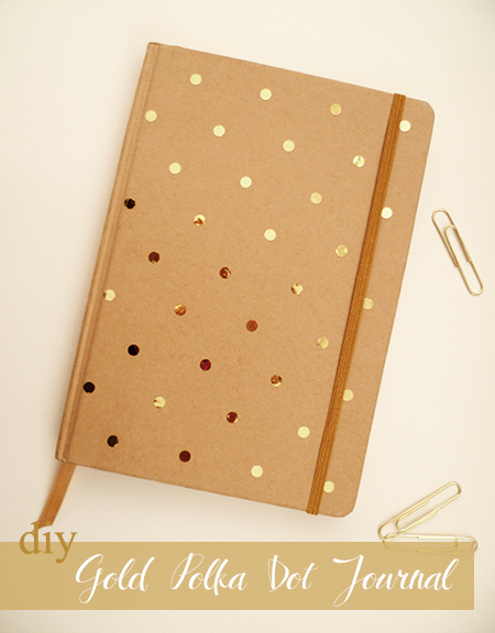 Preciously Me blog : DIY Gold Polka Dot Journal