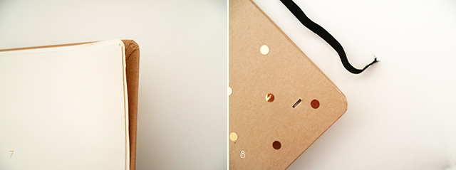 Preciously Me blog : DIY - Gold Polka Dot Journal