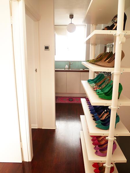 Preciously Me blog : Home Tour – Hallway shoes