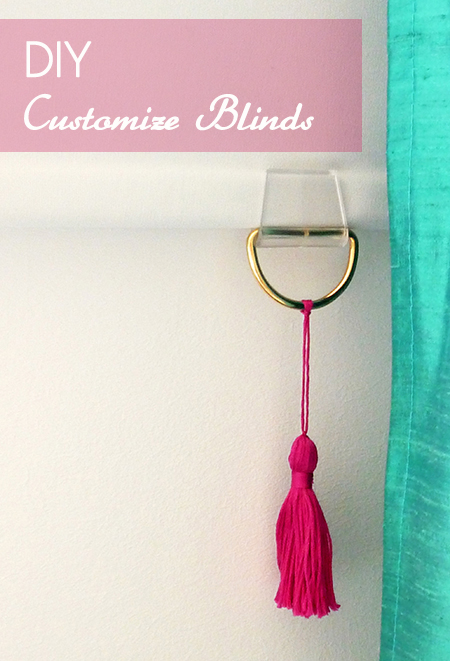 Preciously Me blog : DIY – Customize blinds with tassels