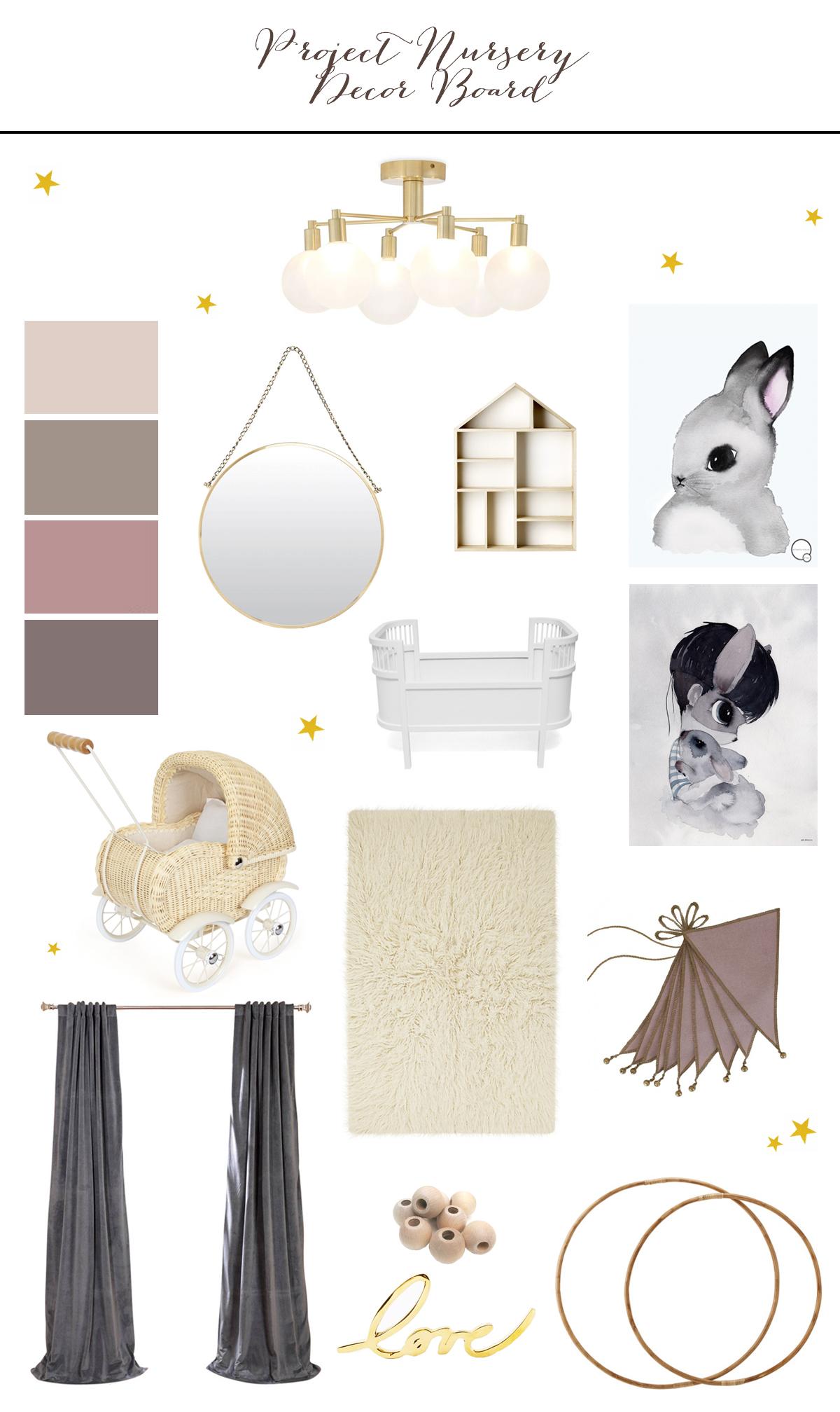 Preciously Me blog : Project Nursery - Decor Board
