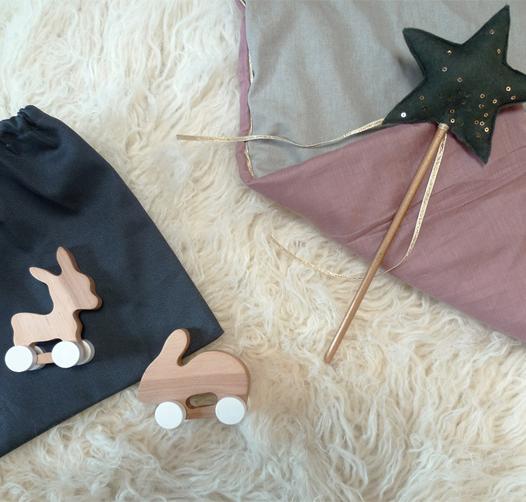 Preciously Me blog : Pinchtoys Donkey & Rabbit wooden toys set