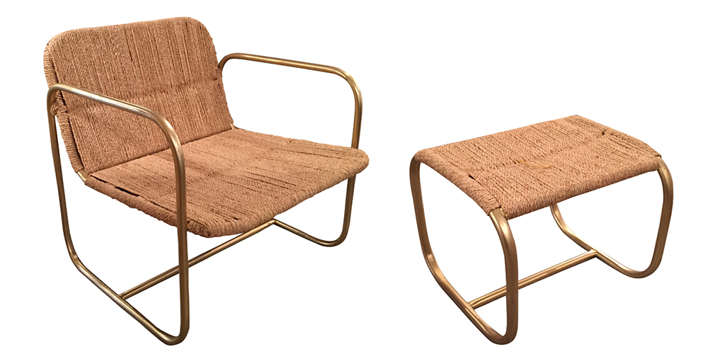 Preciously Me blog : Coup de Coeur Honoré Décoration - Barba armchair and stool