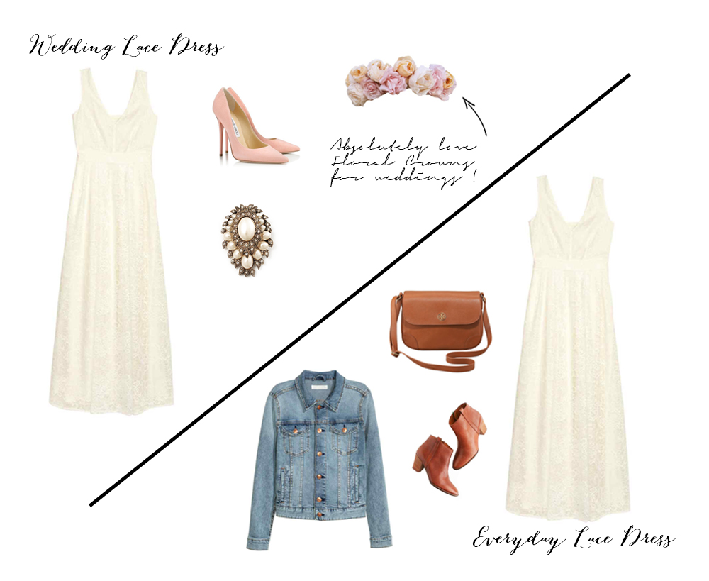 Preciosuly Me blog ; The Everyday Wedding Dress - One dress two ways