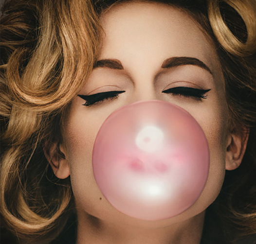 Preciously Me blog : Woman Pink Bubble gum