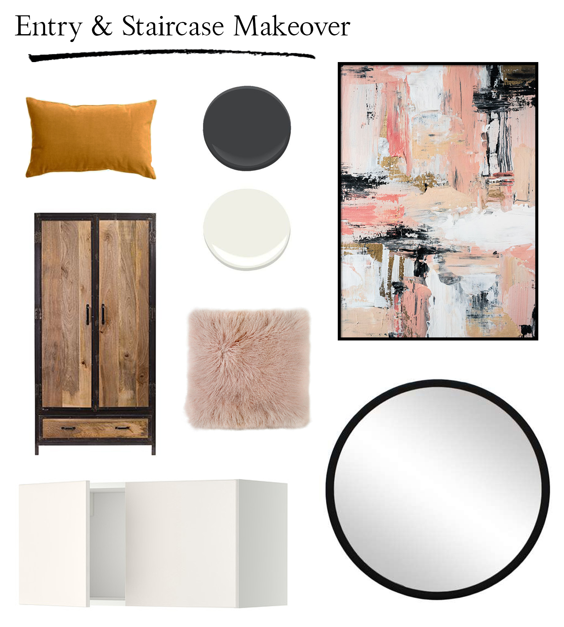 Preciously Me blog : Entry and Staircase Makeover inspiration board - The plan