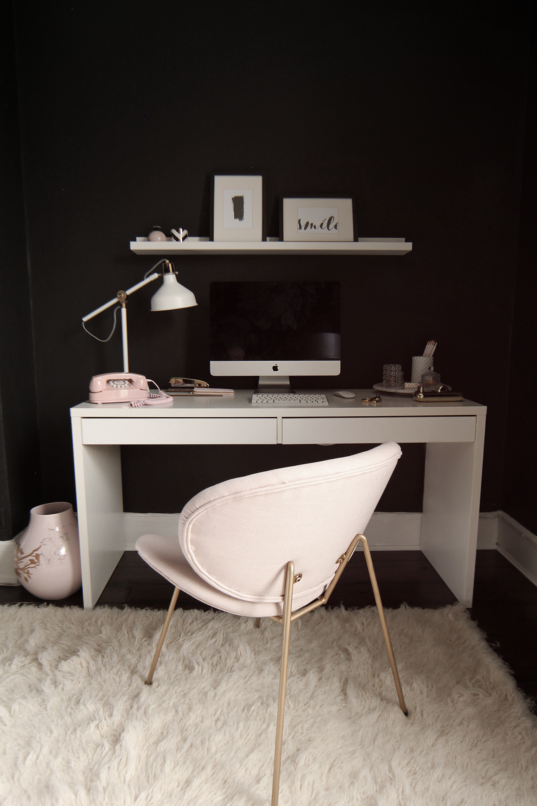 Preciously Me blog : One Room Challenge - Bedroom makeover reveal. Office
