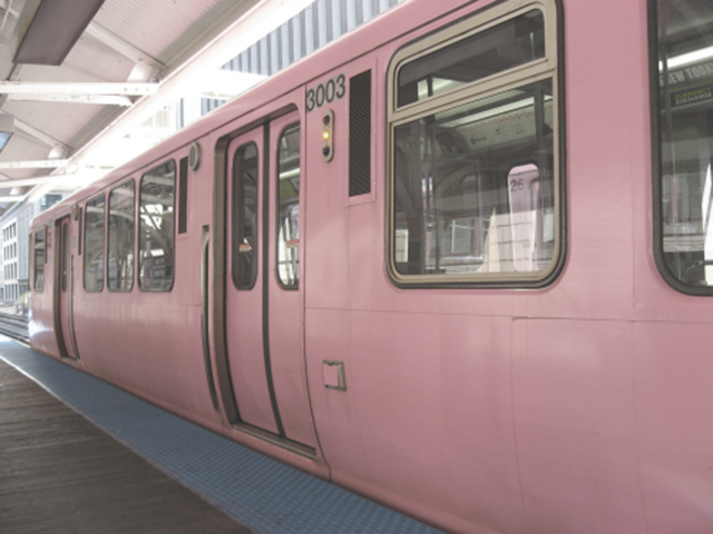 Preciously me blog : Pink train subway
