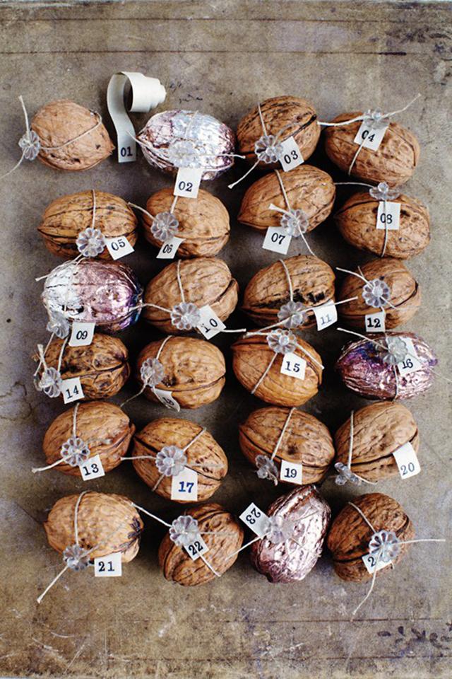 Preciously Me blog : Sweet Paul walnut advent calendar