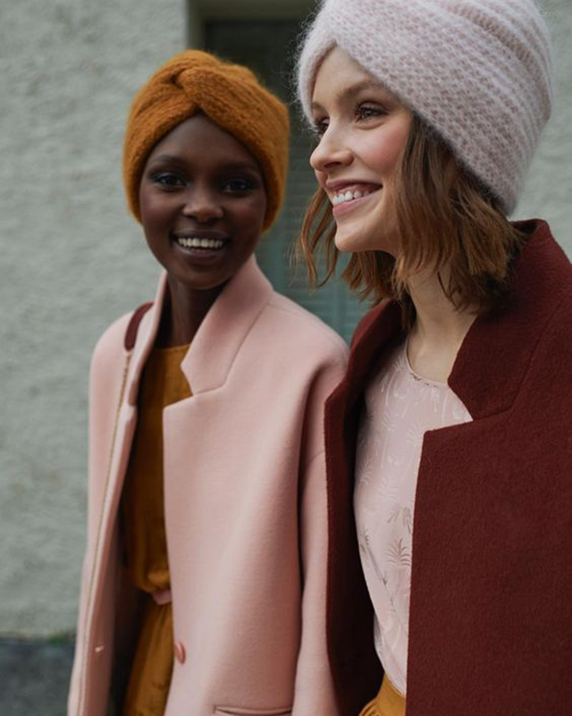 "Preciously Me blog : Pink and mustard fashion combo. Bonnet Everest by ""Des Petits Hauts"""