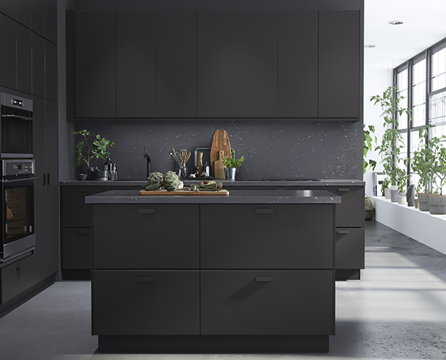 good preciously me blog ikea new collection kungsbacka matte black kicthen made from recycled. Black Bedroom Furniture Sets. Home Design Ideas